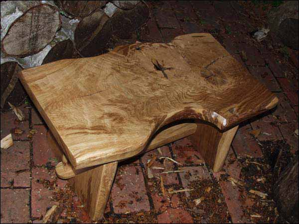 hand made wooden tables
