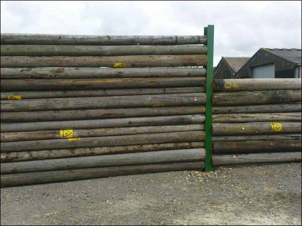 telegraph pole fencing
