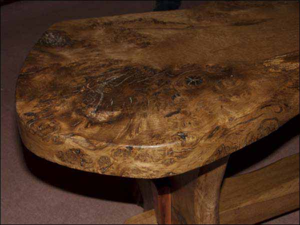 rustic hand made wooden tables